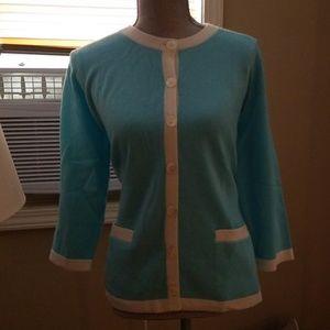 Talbots size 1x cashmere sweater nwt